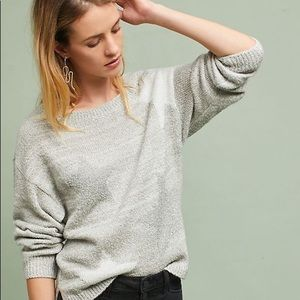 Anthropologie Moth Intarsia Star Sweater